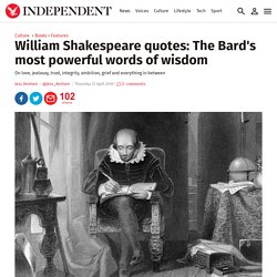 William Shakespeare quotes: The Bard's most powerful words of wisdom