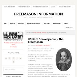 William Shakespeare – the Freemason – Freemason Information