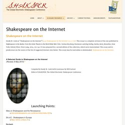 Shakespeare on the Internet