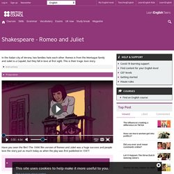 Shakespeare - Romeo and Juliet