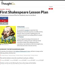 A Shakespeare Lesson Plan for Students new to the Bard
