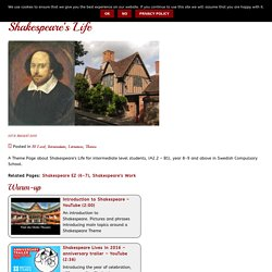 Shakespeare's Life, year 9 ⋆ WebEnglish.se