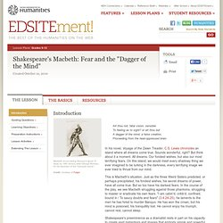the dagger of the mind essay The theatre of the mind: an essay on macbeth by richard   later, for example, the real dagger will gravitate towards the imagi- nary dagger  his.