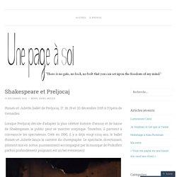Shakespeare et Preljocaj