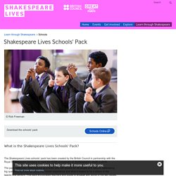 Shakespeare Lives Schools' Pack
