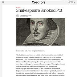 Shakespeare Smoked Pot - Creators