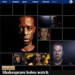 Shakespeare Solos: watch the first six films