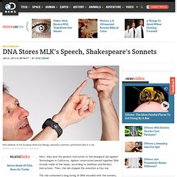DNA Stores MLK's Speech, Shakespeare's Sonnets