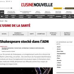 Shakespeare stocké dans l'ADN - Blog