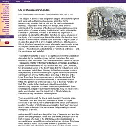 Daily Life in Shakespeare's London - Superstition and Ignorance in Elizabethan England