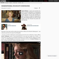 Shakespeare, Sylvia et compagnie