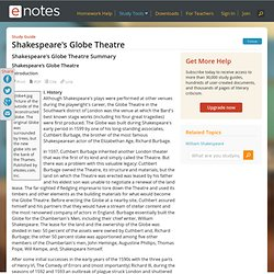 Shakespeare's Globe Theater - Introduction, History, and Images