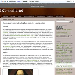 Shakespeare och vetenskapliga metoder på engelskan