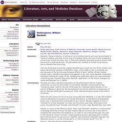 the symptoms of schizophrenia in macbeth a play by william shakespeare Find free macbeth guilty conscience essays,  macbeth thematic essay macbeth essay the play macbeth by william shakespeare  symptoms of schizophrenia in macbeth.