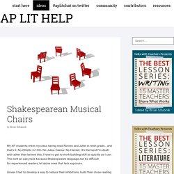 Shakespearean Musical Chair