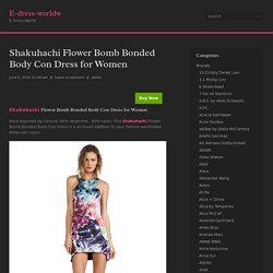 Shakuhachi Flower Bomb Bonded Body Con Dress for Women