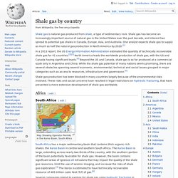 Shale gas by country - Wikipedia