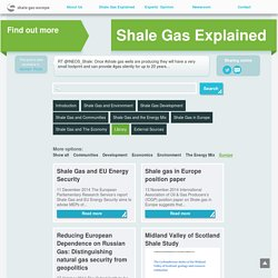 Shale Gas in Europe Archives - Shale Gas : Shale Gas