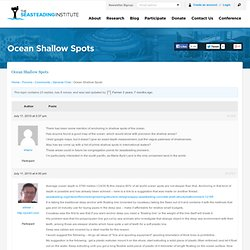 Topic: Ocean Shallow Spots