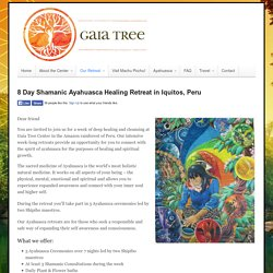8 Day Shamanic Ayahuasca Healing Retreat in Iquitos, Peru - Gaia Tree Center