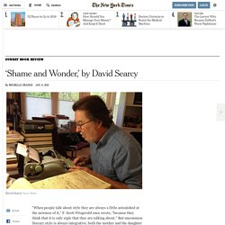'Shame and Wonder,' by David Searcy