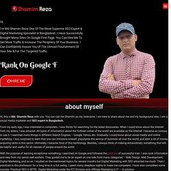 Md Shamim Reza - Organig SEO Expert in Banlgadesh For (Google Rank)