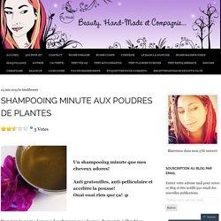 shampooing minute aux poudres de plantes