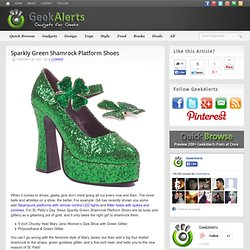Sparkly Green Shamrock Platform Shoes