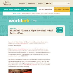Shamshad Akhtar is Right: We Need to End Poverty Faster