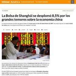 La Bolsa de Shanghái se desplomó 8,5% por los grandes temores sobre la economía china