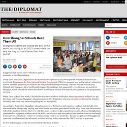How Shanghai Schools Beat Them All