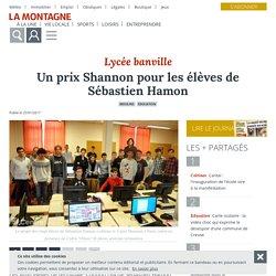 Un prix Shannon pour les élèves de Sébastien Hamon - Moulins (03000) - La Montagne
