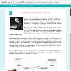 Teorías de la Comunicación: MODELO DE SHANNON Y WEAVER