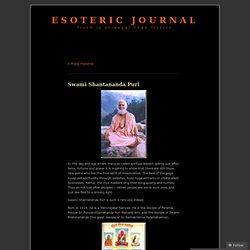 Swami Shantananda Puri « Esoteric Journal