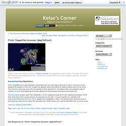 Flickr Shapefiles browser (MapToPixel) « Kelso's Corner