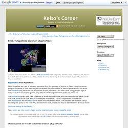 Flickr Shapefiles browser (MapToPixel)