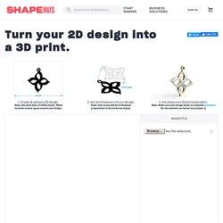 2D Design to 3D Print Creator