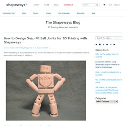 How to Design Snap-Fit Ball Joints for 3D Printing with Shapeways