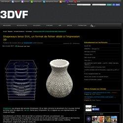 Shapeways lance SVX, un format de fichier dédié à l'impression 3D