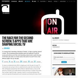 The Race For The Second Screen: Five Apps That Are Shaping Social TV