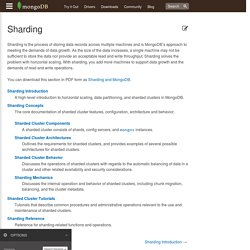 Sharding — MongoDB Manual 2.6.6
