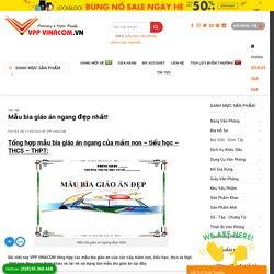 Share » Mẫu bìa giáo án ngang đẹp nhất! » VPP VINACOM