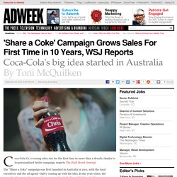 Coca-Cola's Share a Coke Campaign Drives Sales