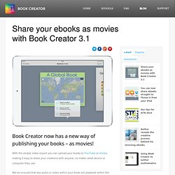 Share your ebooks as movies with Book Creator 3.1