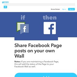 Share Facebook Page posts on your own Wall by dannypage