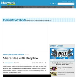 Share files with Dropbox