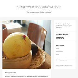 share your food knowledge