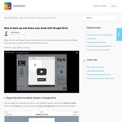 How to back up and share your book with Google Drive – Book Creator Support