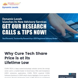 Why Cure Tech Share Price is at its Lifetime Low