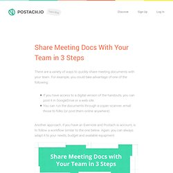 Share Meeting Docs With Your Team in 3 Steps